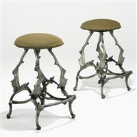 bar stools (pair) by arthur court