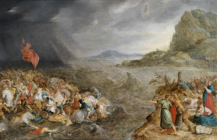die vernichtung der ägypter im roten meer buch exodus 2 buch mose by hans jordaens iii