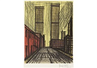 twin tower by bernard buffet