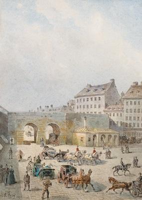 ehemaliges kärntnerthor bis 1848 by johann wilhelm frey