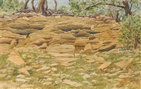 untitled - sandstone outcrop by j. stanford perrott