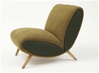 lounge chair by norman bel geddes