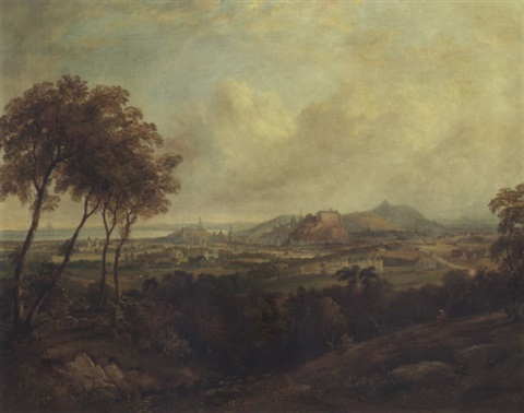a view of edinburgh castle from corstorphine hill by henry g duguid