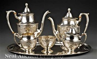 coffee and tea service (set of 6) by dunkirk silversmiths