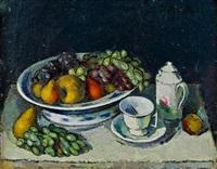 stillleben mit früchten und teeservice by robin christian andersen