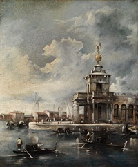 die punta della dogana in venedig by francesco guardi