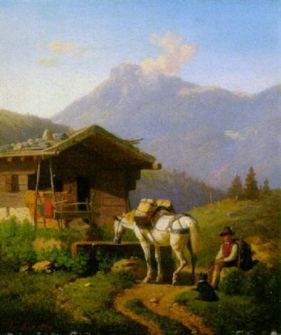 das staumpferd am brunnen by karl lieske
