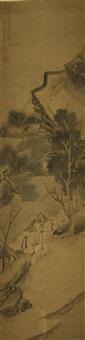 scholars in a landscape by jiang lian