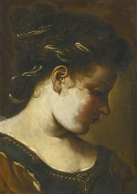 portrait of a lady by guercino