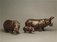 nilpferdgruppe (+ 2 others; 3 works) by josef lipensky