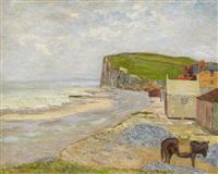 am strand von étretat in der normandie by maxime maufra