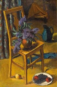 lilas sur une chaise by jeanne janebe (barraud pellet)