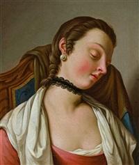 antonietta mardegan, monselice. paar portraits junger frauen, in typischer ausdrucksvoller manier by pietro antonio rotari