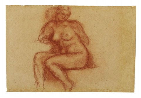 femme nue assise by aristide maillol