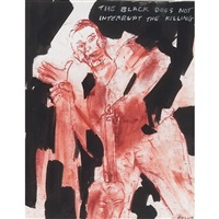 the black does not interrupt the killing by leon golub
