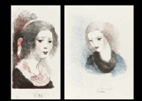 charlotte and emilie 2 works by marie laurencin