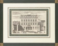 views of swedish palaces (+ 6 others; 7 works) by johannes van den aveelen