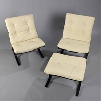 siesta (pair of easy chairs with one stool) by ingmar anton relling