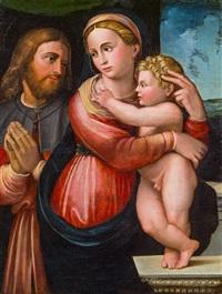 madonna mit kind und hl. rochus by innocenzo di pietro (da imola) francucci