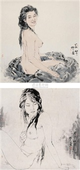 nude (+ another; 2 works) by xiang xianshan