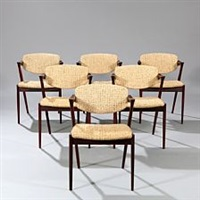 a set of six dining chairs by kai kristiansen