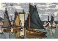 les sables d'olonne (tapestry) by bernard buffet