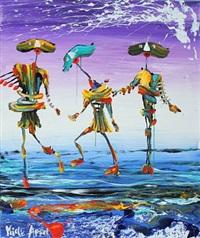 figure dans on the water by kjeld appel