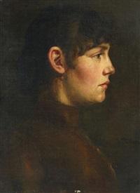 porträt eines mädchens im profil by wilhelm trübner