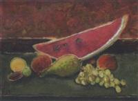 stilleben mit melone by hermann flesche