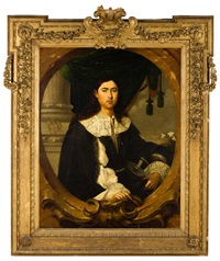 retrato del conde de ávalos, en un óvalo fingido by bartolomé esteban murillo