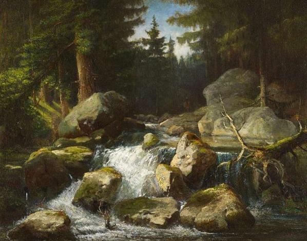 waldbach by andreas achenbach