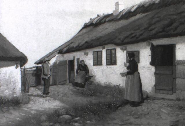 personer foran bondegrd by hans andreasen hessellund