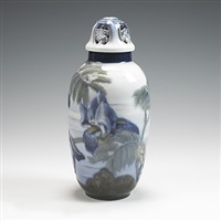 lidded vase, model #599 by jo hahn locher