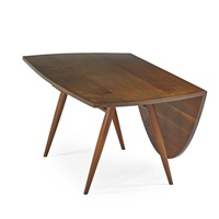 drop-leaf dining table by george nakashima