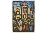 christ et pauvres from passion by georges rouault