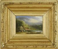 connecticut landscapes (pair) by alvan fisher