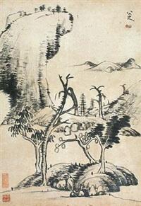 山水图 by bada shanren