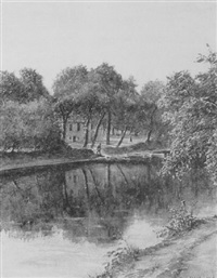 boote an einem kanal by paul robert passini
