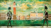 italian national guards and doge's palace by cedric emmanuel