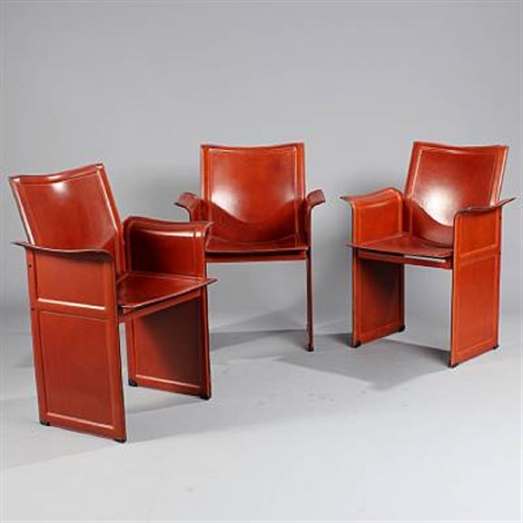 korium model km1 set of 3 armchairs by tito agnoli