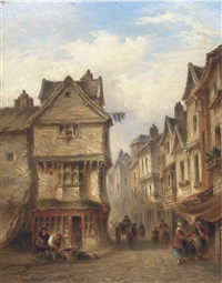 a street in old exeter by j. williams