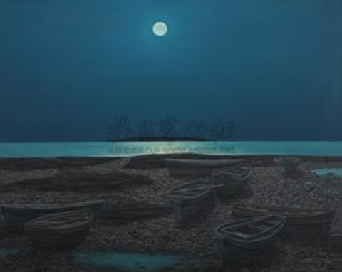 海上升明月 moonlight on the sea by hu jiancheng