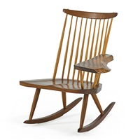 rocking chair with arm by george nakashima