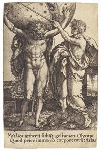 die taten des herkules (portfolio of 12) by heinrich aldegrever