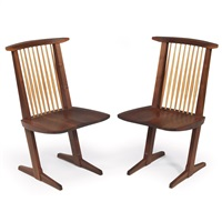 conoid chairs (pair) by mira nakashima-yarnall
