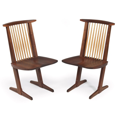 conoid chairs pair by mira nakashima yarnall