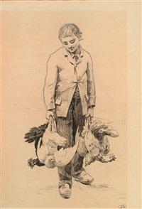 venditore di polli by louis emile adan
