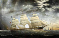 british three-masted clipper ship by charles keith miller