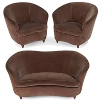 settee and lounge chairs (3 works) by artflex