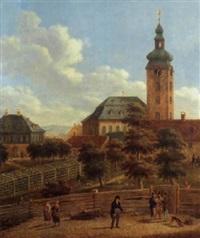 johanniskirche in frankfurt-bornheim (uhrenbild) by johann jacob moevius